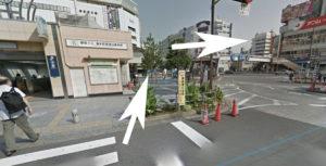 錦糸町のキャンバスクラブへの道